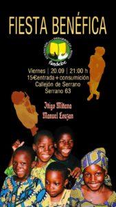 Cartel Fiesta benefica voluntarios 2019